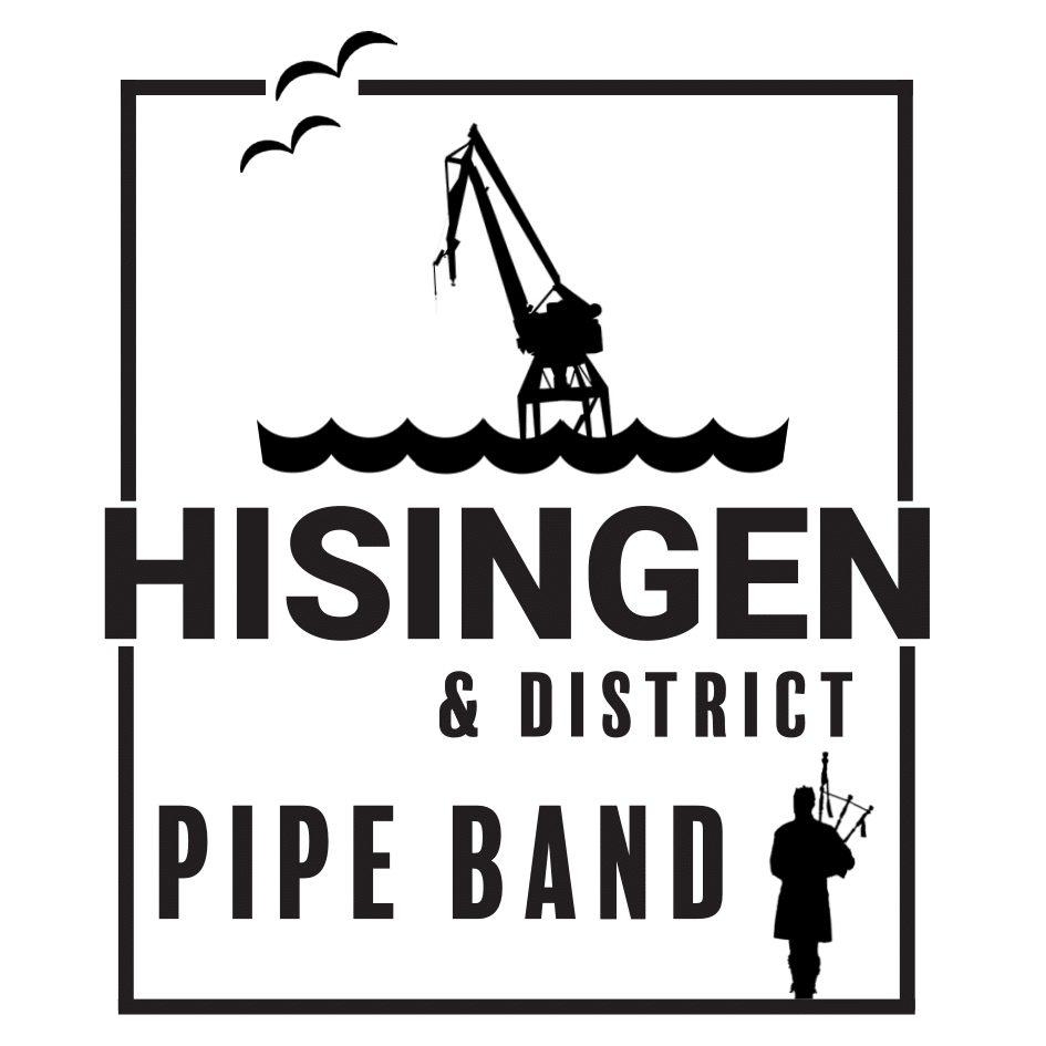 Hisingen & District Pipe Band Sticky Logo Retina